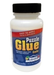 White Mountain Jigsaw Puzzle Glue - 4oz bottle