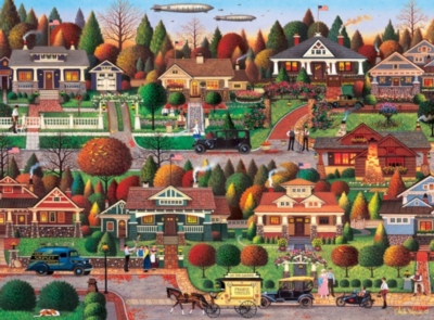 Charles Wysocki: Labor Day in Bungalowville - 1000pc Jigsaw Puzzle by Buffalo Games