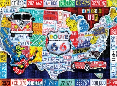 Explore the USA - 1000pc Jigsaw Puzzle by Buffalo Games