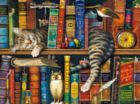 The Cats Of Charles Wysocki: Frederick the Literate - 750pc Jigsaw Puzzle by Buffalo Games