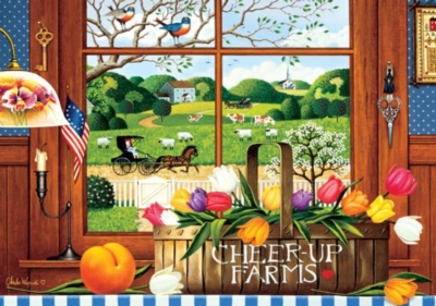 Charles Wysocki: A Peach of a Day - 300pc Large Format Jigsaw Puzzle by Buffalo Games