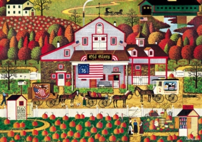 Autumn Farms - 500pc Jigsaw Puzzle by Buffalo Games