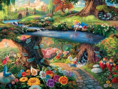 Thomas Kinkade Disney Dreams: Alice in Wonderland - 750pc Jigsaw Puzzle by Ceaco