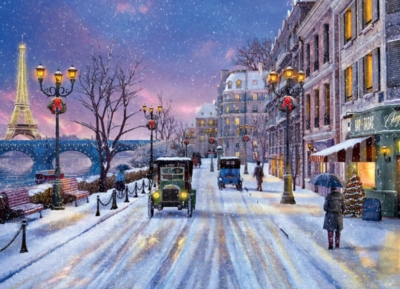 Christmas Eve in Paris - 1000pc Jigsaw Puzzle by EuroGraphics