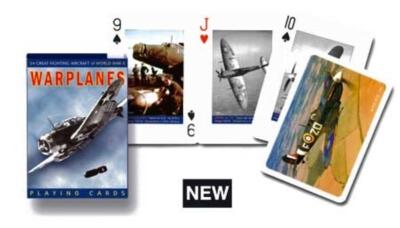 Warplanes - Playing Cards