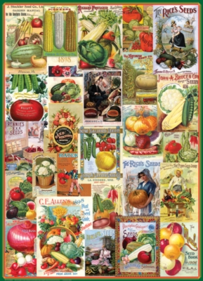 Seed Catalog: Smithsonian - Vegetables - 1000pc Jigsaw Puzzle by Eurographics