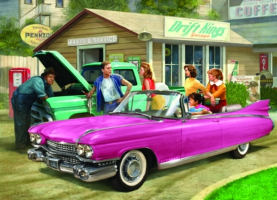 The Pink Caddy by Nestor Taylor - 1000pc Jigsaw Puzzle by Eurographics