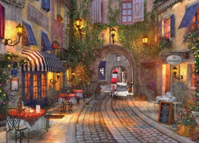 The French Walkway by Dominic Davison - 1000pc Jigsaw Puzzle by Eurographics