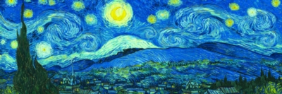 Starry Night Panorama (Expanded from original) by Vincent van Gogh - 1000pc Jigsaw Puzzle by Eurographics
