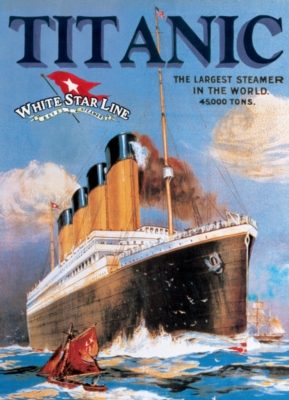 Titanic White Star Line - 1000pc Jigsaw Puzzle by Eurographics