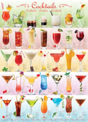 Cocktails - 1000pc Jigsaw Puzzle by Eurographics
