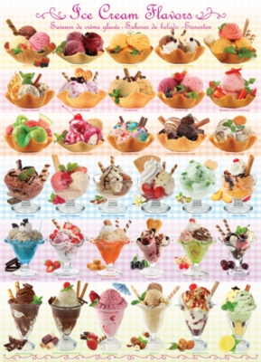 Ice Cream Flavors - 1000pc Jigsaw Puzzle by Eurographics