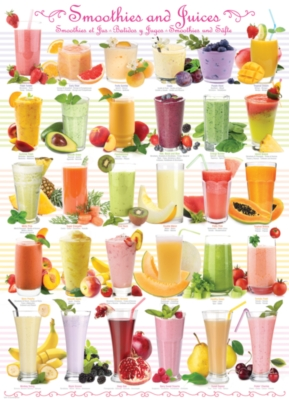 Smoothies - 1000pc Jigsaw Puzzle by Eurographics