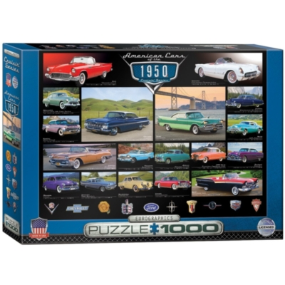 American Cars of the 1950s - 1000pc Jigsaw Puzzle by Eurographics