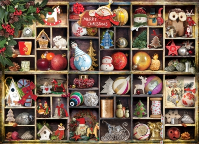 Christmas Ornaments - 1000pc Jigsaw Puzzle by Eurographics