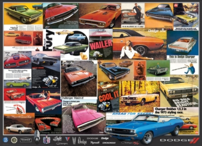 Dodge Advertising Collection - 1000pc Jigsaw Puzzle by Eurographics