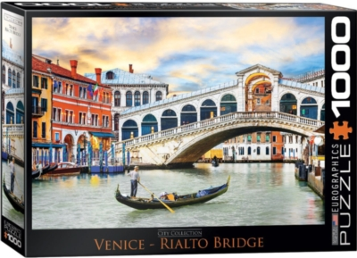Venice Rialto Bridge - 1000pc Jigsaw Puzzle by Eurographics