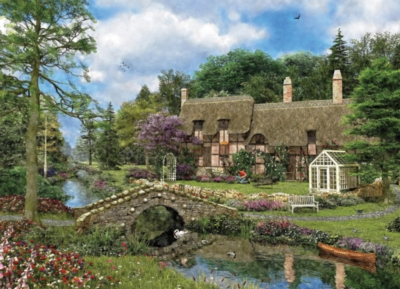 Cobble Walk Cottage by Dominic Davison - 500pc Jigsaw Puzzle by EuroGraphics