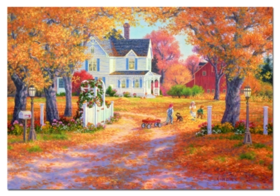 Autumn Leaves And Laughter - 1500pc Jigsaw Puzzle by Educa
