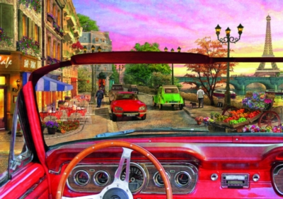 Paris In A Car - 1500pc Jigsaw Puzzle by Educa