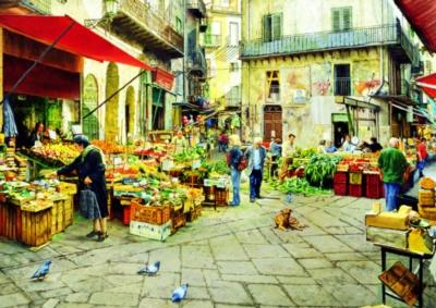 La Vucciria Market, Palermo - 3000pc Jigsaw Puzzle by Educa