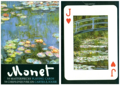 Monet: Lilies - Playing Cards