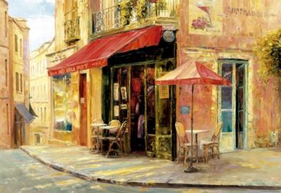 Hillside Café, Haixa Liu - 1500pc Jigsaw Puzzle by Educa