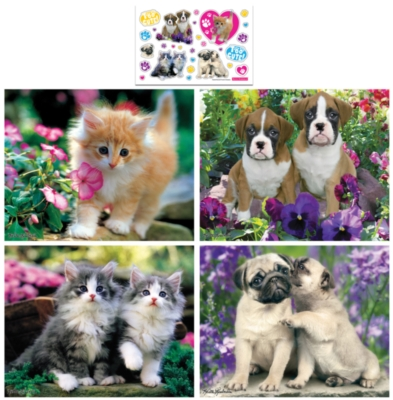 Kimberlin 4-pack - 100pc Jigsaw Puzzle Set by MasterPieces