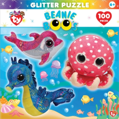 TY: Ocean Club - 100pc Glitter Jigsaw Puzzle by Masterpieces