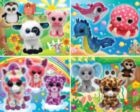 Ty Beanie BOO Glitter 4-pack - 100pc Jigsaw Puzzle Set by MasterPieces