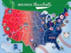 MLB USA Map - 500pc Jigsaw Puzzle by Masterpieces