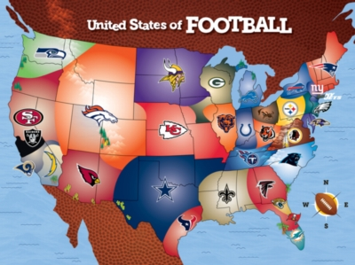 NFL USA Map - 500pc Jigsaw Puzzle by Masterpieces