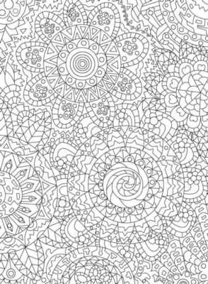 Puzzle Escapes: Mandala Flowers - 500pc Coloring Jigsaw Puzzle by Masterpieces