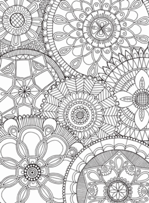Puzzle Escapes: Mandala Collage - 500pc Coloring Jigsaw Puzzle by Masterpieces