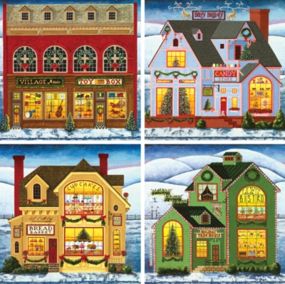 Holiday 4-Pack - 500pc Jigsaw Puzzle by MasterPieces