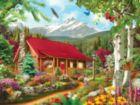 Memory Lane: Mountain Hideaway - 300pc EZ Grip Jigsaw Puzzle by Masterpieces