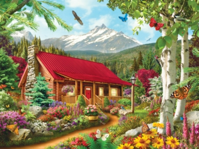 Memory Lane: Mountain Hideaway - 300pc EZ Grip Jigsaw Puzzle by Masterpieces