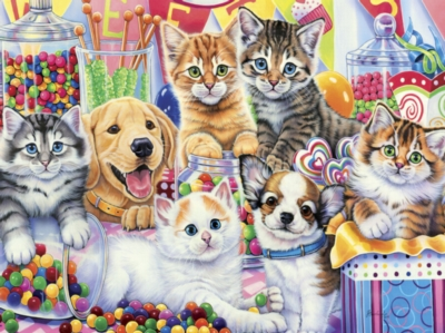 Playful Paws: Sweet Things - 300pc EZ Grip Jigsaw Puzzle by Masterpieces