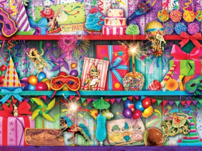 Once Upon a Shelf: Celebrate Good Times - 750pc Jigsaw Puzzle by Masterpieces