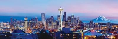Cityscape: Seattle - 1000pc Panoramic Jigsaw Puzzle by Masterpieces
