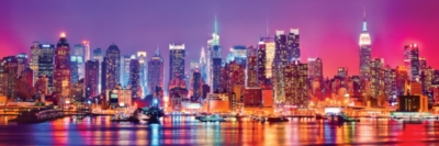 Cityscape: New York - 1000pc Panoramic Jigsaw Puzzle by Masterpieces