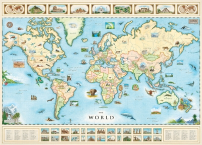 Xplorer: World Map - 1000pc Jigsaw Puzzle by Masterpieces
