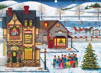 Main Street Carolers - 1000pc Jigsaw Puzzle by Masterpieces