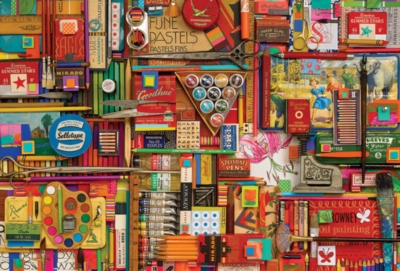 Vintage Art Supplies - 2000pc Jigsaw Puzzle by Cobble Hill
