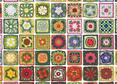 Granny Squares - 1000pc Jigsaw Puzzle by Cobble Hill