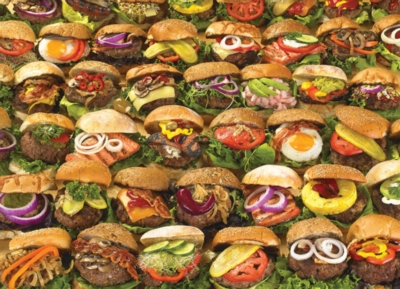 Burgers - 1000pc Jigsaw Puzzle by Cobble Hill