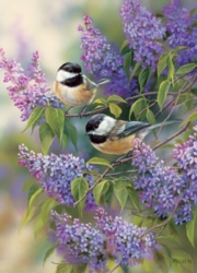 Chickadees and Lilacs - 1000pc Jigsaw Puzzle by Cobble Hill