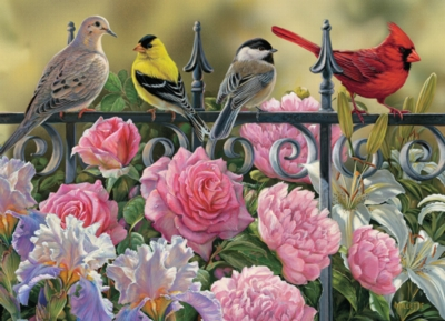 Birds on a Fence - 1000pc Jigsaw Puzzle by Cobble Hill