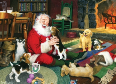 Santa's Playtime - 1000pc Jigsaw Puzzle by Cobble Hill