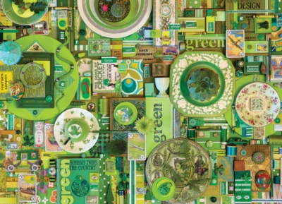 Rainbow Project: Green - 1000pc Jigsaw Puzzle by Cobble Hill